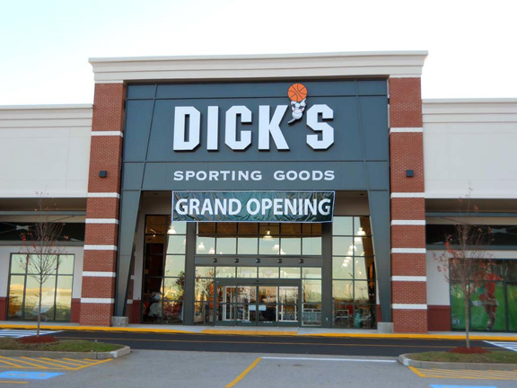 Store front of DICK'S Sporting Goods store in Lisbon, CT