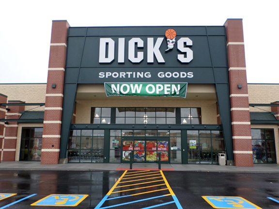 Store front of DICK'S Sporting Goods store in South County, MO