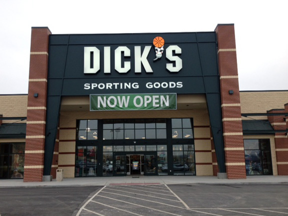 Store front of DICK'S Sporting Goods store in Newport, KY
