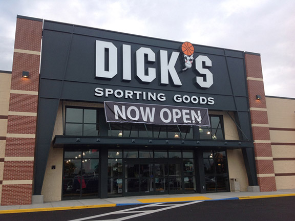 Store front of DICK'S Sporting Goods store in Patchogue, NY