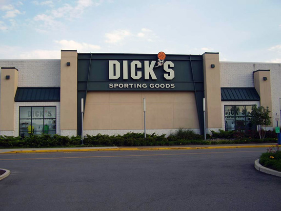 Store front of DICK'S Sporting Goods store in Fredericksburg, VA