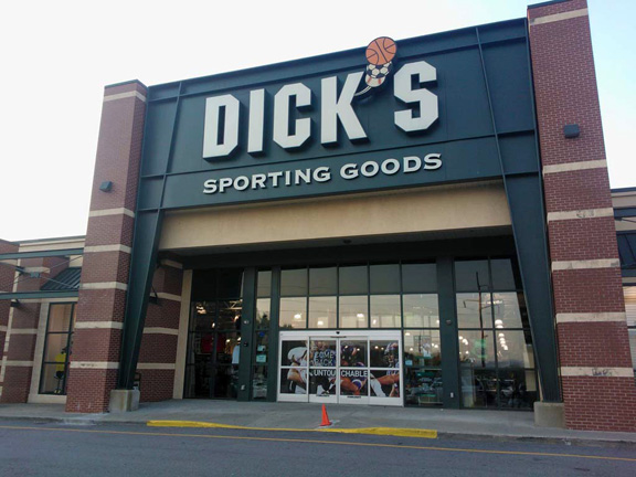 Store front of DICK'S Sporting Goods store in Poughkeepsie, NY
