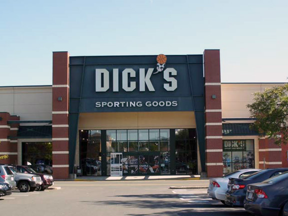 Store front of DICK'S Sporting Goods store in Hadley, MA