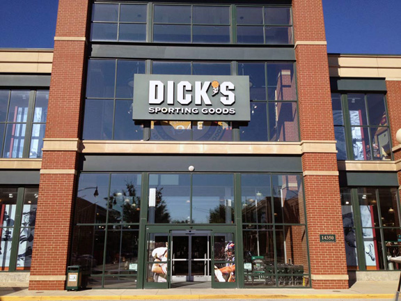 Store front of DICK'S Sporting Goods store in Carmel, IN