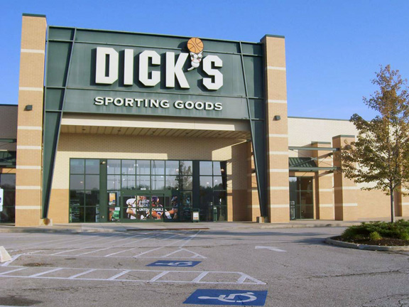 Store front of DICK'S Sporting Goods store in Strongsville, OH