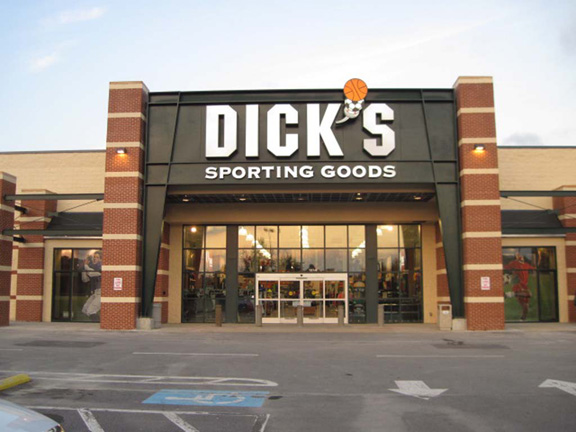 Store front of DICK'S Sporting Goods store in Asheville, NC