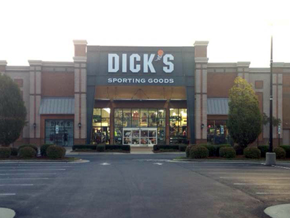 Store front of DICK'S Sporting Goods store in Raleigh, NC