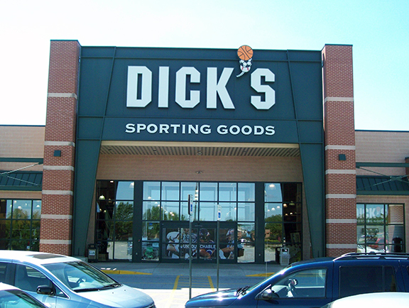 Store front of DICK'S Sporting Goods store in Lafayette, IN