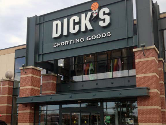 Store front of DICK'S Sporting Goods store in Natick, MA