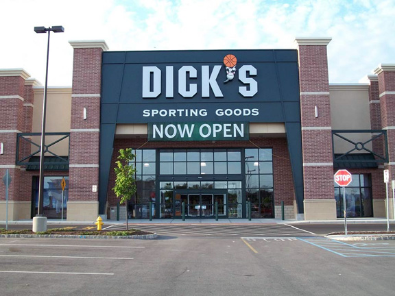Store front of DICK'S Sporting Goods store in Brick, NJ