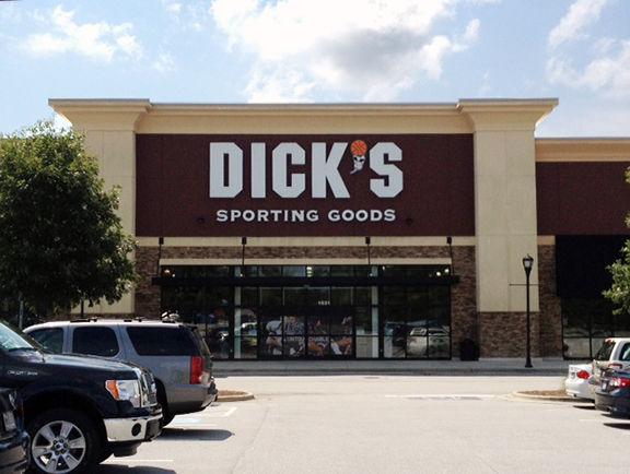 Store front of DICK'S Sporting Goods store in Apex, NC