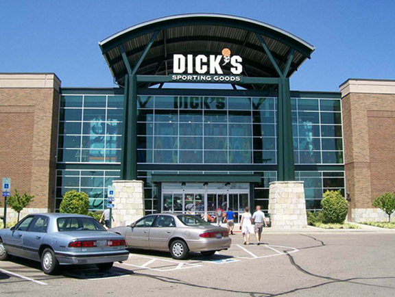 Store front of DICK'S Sporting Goods store in Beavercreek, OH