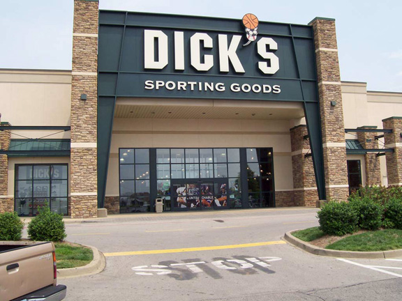 Store front of DICK'S Sporting Goods store in Clarksville, IN