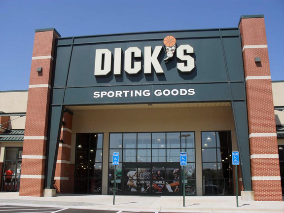 Store front of DICK'S Sporting Goods store in Bailey's Crossroads, VA