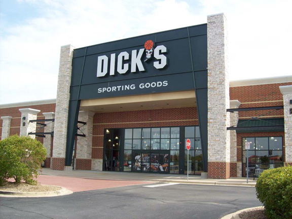 Store front of DICK'S Sporting Goods store in Oswego, IL