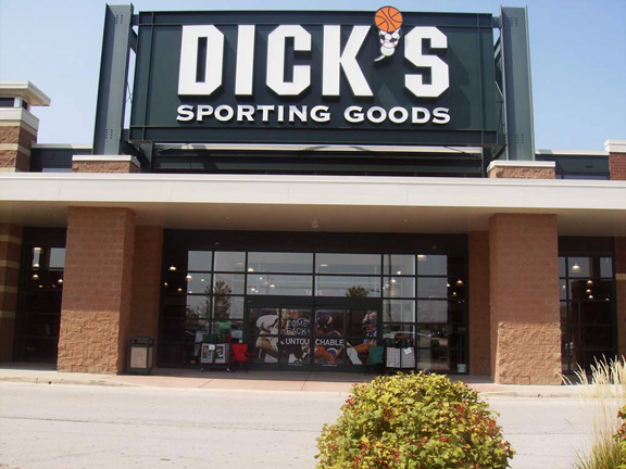 Store front of DICK'S Sporting Goods store in Tinley Park, IL