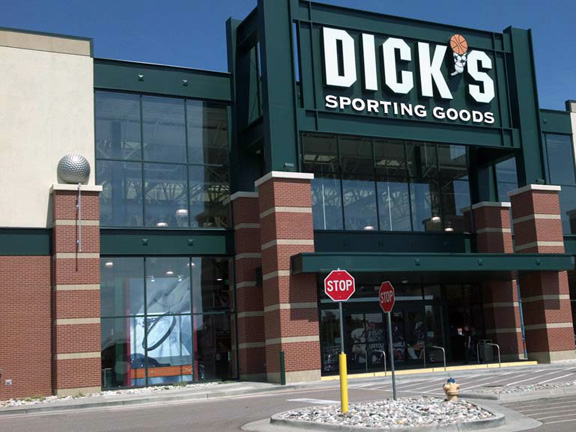Store front of DICK'S Sporting Goods store in Colorado Springs, CO