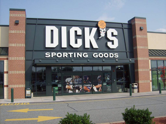 Store front of DICK'S Sporting Goods store in West Springfield, MA