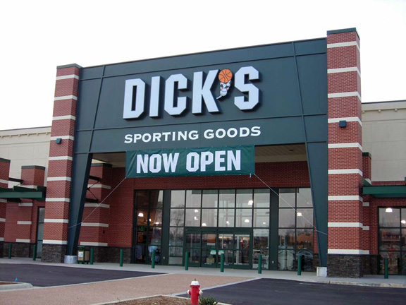 Store front of DICK'S Sporting Goods store in Williamsburg, VA