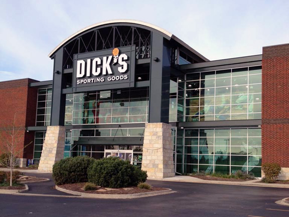 Store front of DICK'S Sporting Goods store in Lombard, IL