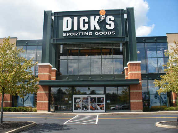 Store front of DICK's Sporting Goods store in Roseville, CA
