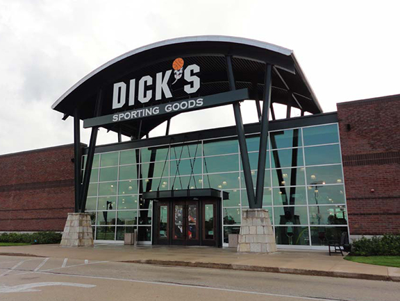 Store front of DICK'S Sporting Goods store in Peoria, IL