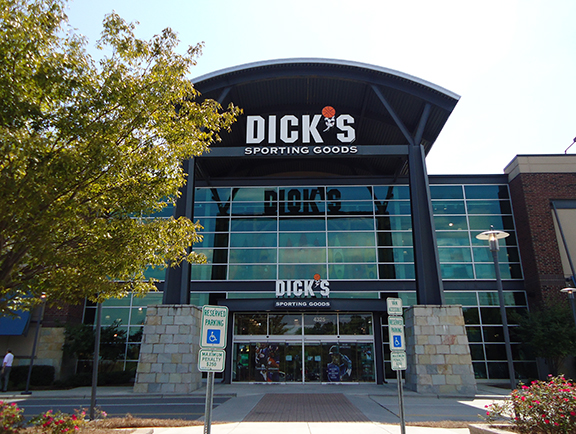 Store front of DICK'S Sporting Goods store in Charlotte, NC