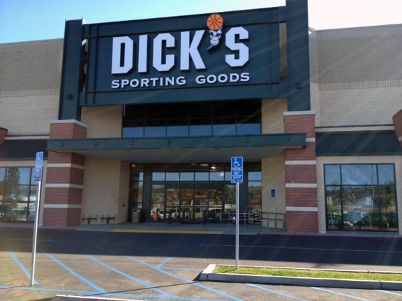 Store front of DICK'S Sporting Goods store in El Cajon, CA