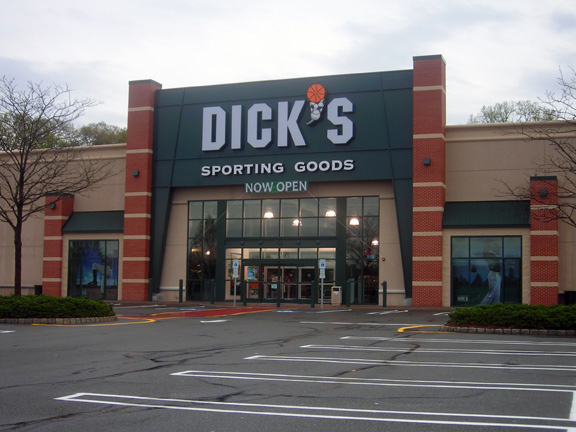Store front of DICK'S Sporting Goods store in Paramus, NJ