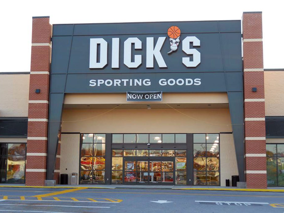 Store front of DICK'S Sporting Goods store in Glen Burnie, MD