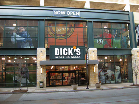 timeless design a8f22 7bfe6 Store front of DICKS Sporting Goods store in Dallas, TX
