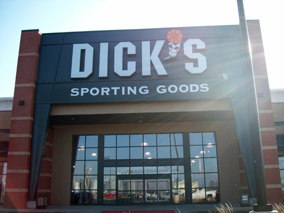 Store front of DICK'S Sporting Goods store in Bourbonnais, IL