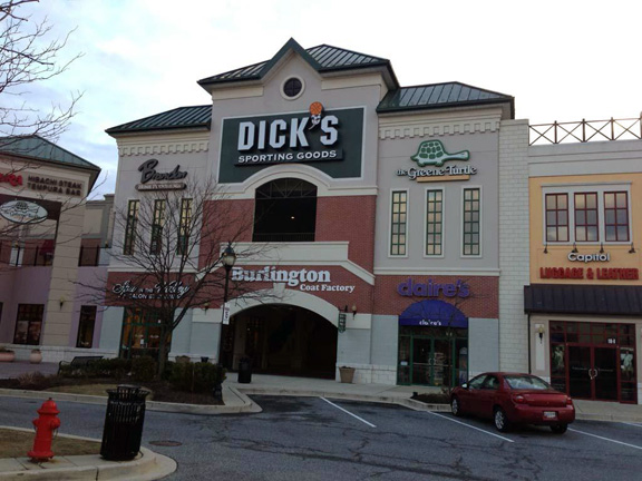 Store front of DICK'S Sporting Goods store in Cockeysville, MD