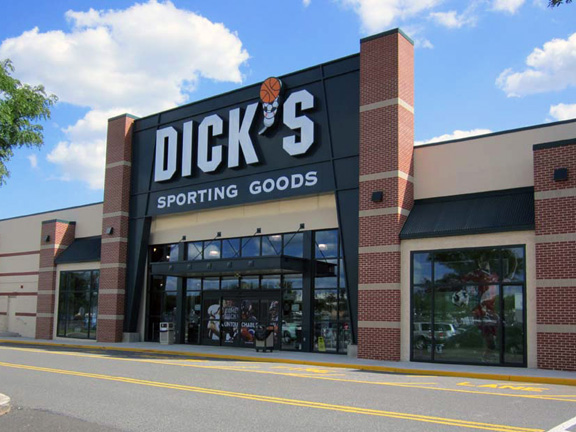 Store front of DICK'S Sporting Goods store in Fairless Hills, PA