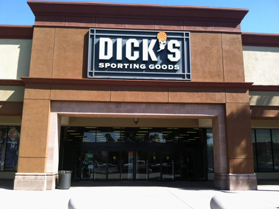 Store front of DICK'S Sporting Goods store in Chino, CA