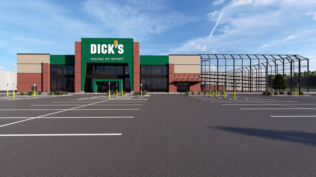 Storefront of DICK's House of Sport store in Knoxville, TN